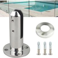 1pc 304 Stainless Steel Swimming Pool Glass Clamp Clip with Fixing Screws Suitable for 8 12mm Thickness Tempered Glass