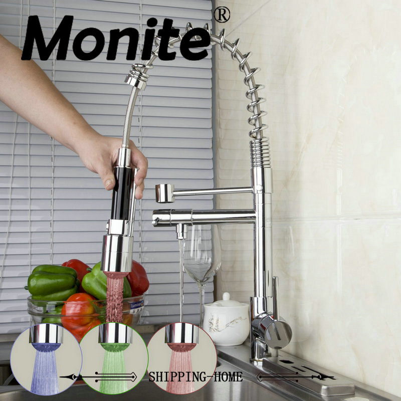 Modern Kitchen Faucets Sink Pull Down Spray8525-6/1 Basin Mixer Brass Tap Vessel Vanity Deck Mount Faucets,Mixers & Taps kitchen sink faucets lift rotatable pull out hose spray head chrome polish silver single handle solid brass deck mount mixers