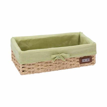 Imitação de palha cesta de armazenamento cesta de vime cesta de armazenamento caixa de armazenamento de desktop tecido trançado chave caixa de armazenamento lanche