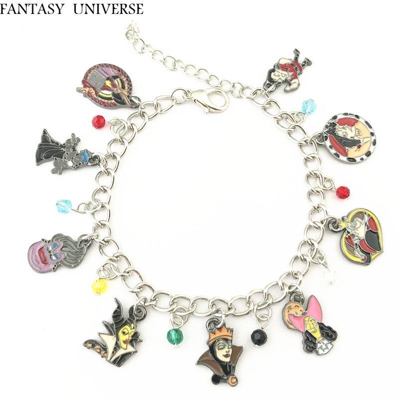 FANTASY UNIVERSE Free shipping 20pc a lot Evil Villains charm bracelet SZDICMNPU01