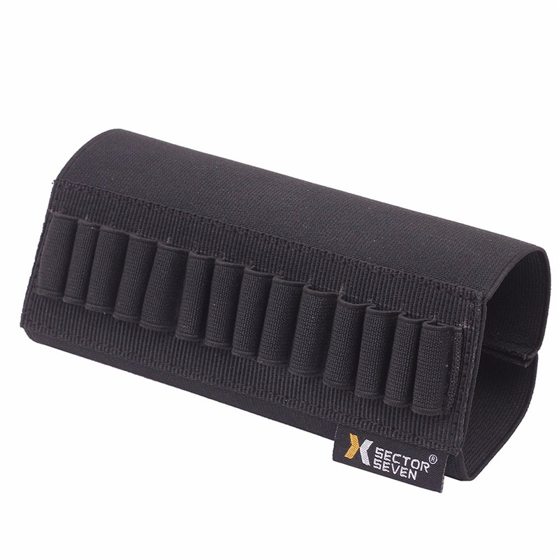 Tactical Buttstock Ammo Holder Gun Rifle Stock Ammo Portable Pouch 14 Shell Cartridge Holder With Cheek Pad Combat Hunting Gear 6