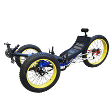 Aluminiumlegering 4.0 Fat Tire Ligfiets Trike(China)