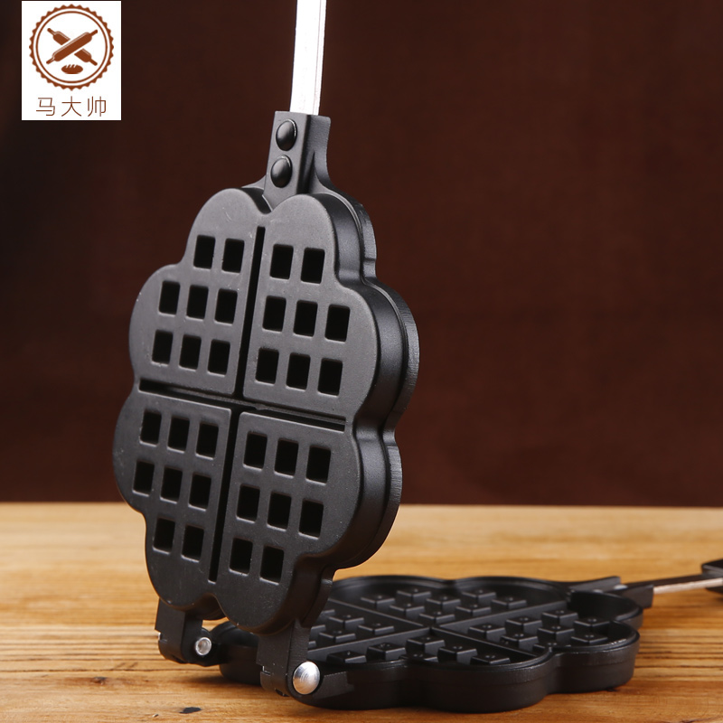 Kitchen Baking Waffle Mold Non-stick Cake Mould Diy Waffle Maker iron teflon non stick coating 12 in 1 muffin cup cake diy mold black