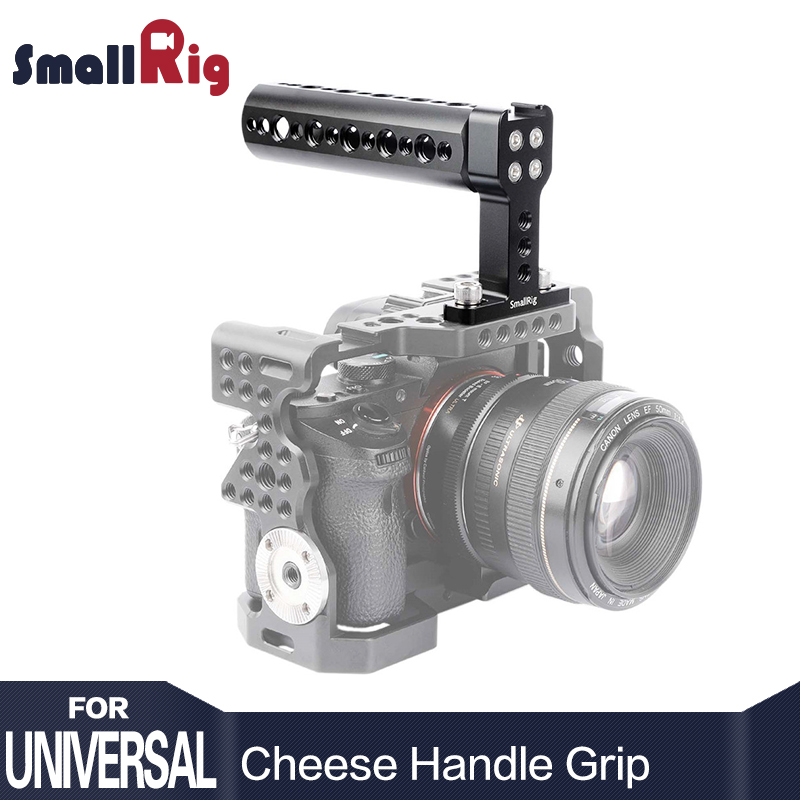 SmallRig Alumínio Top Handle Cheese Handle Grip com base de sapata fria para câmera digital Dslr - 1638