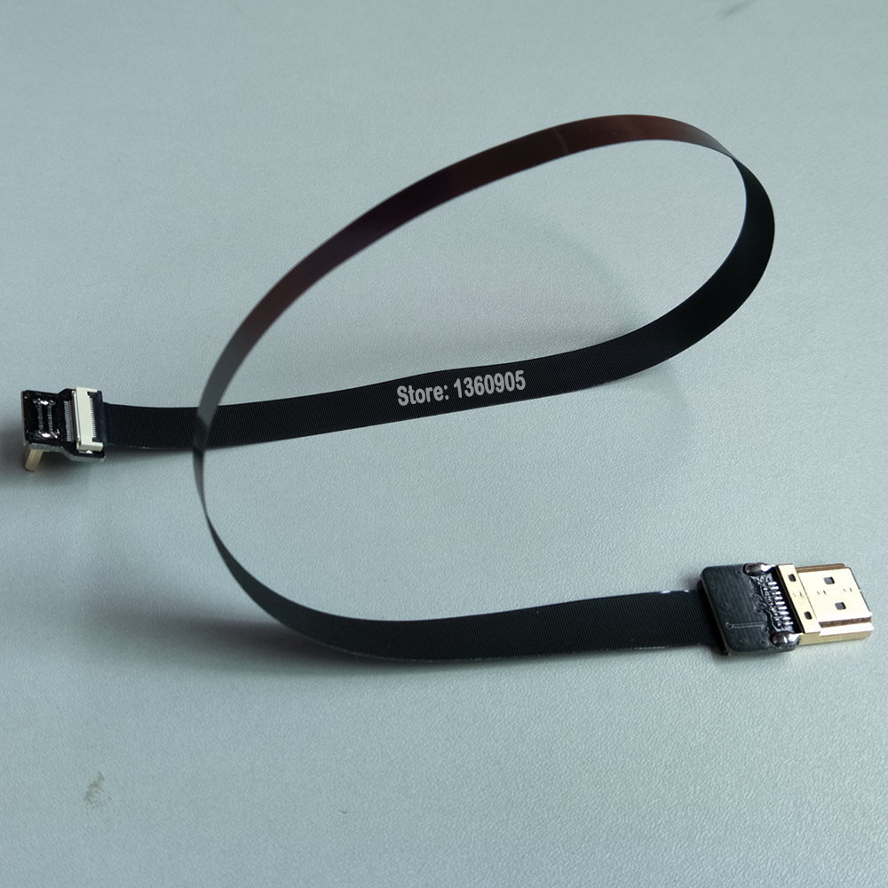 Image 5 - 40CM/50CM/60CM/80CM/1M Ultra Thin HDMI Cable FPV Micro Male Up angle 90 degree to Standard TypeA Male Straight (REVERSE SOCKET)degreedegree angle  -
