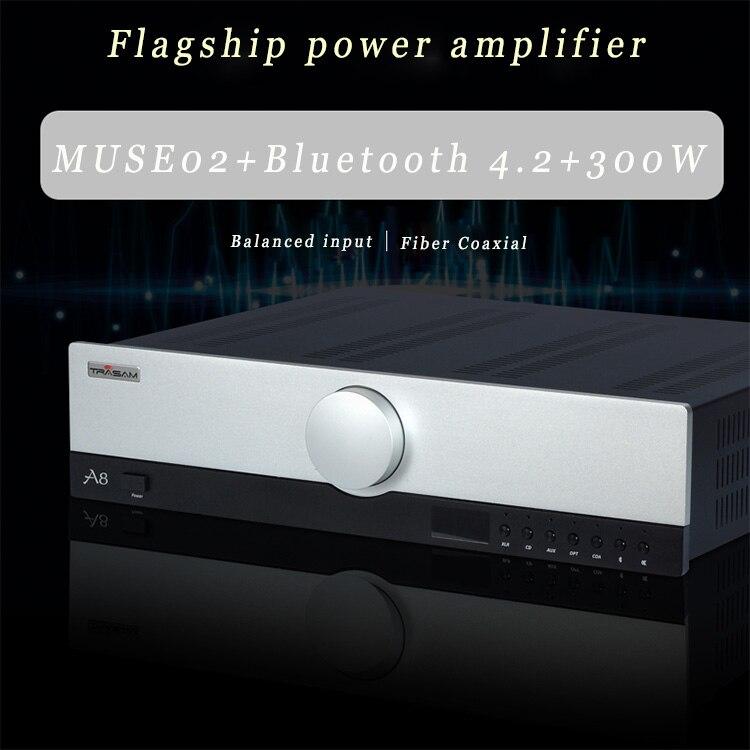 Trasam/A8 HiFi 2,0 усилитель с дистанционным управлением/беспроводной Bluetooth/волокна/коаксиальный/балансный вход автоматический аудио ремонт