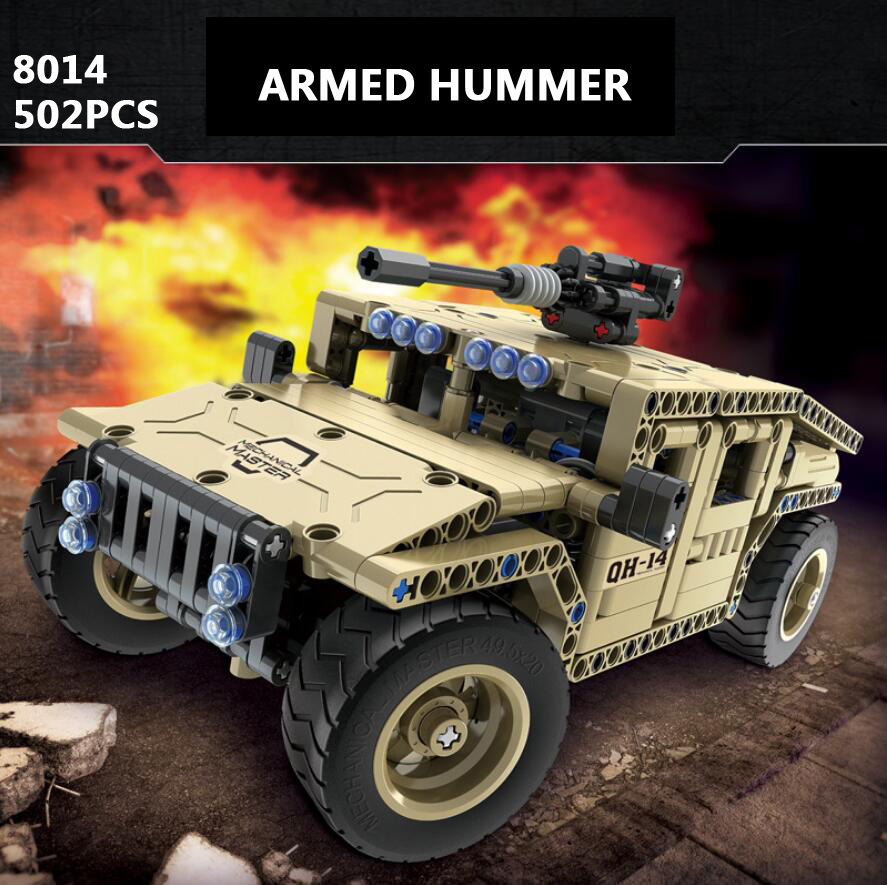 Modern military Armed hummer 2in1 radio remote control building block model Armored car vehicle model bricks assemblage rc toys modern military world war giant battleship type 052d destroyer 2in1 building block plastic submarine model bricks toys for boys