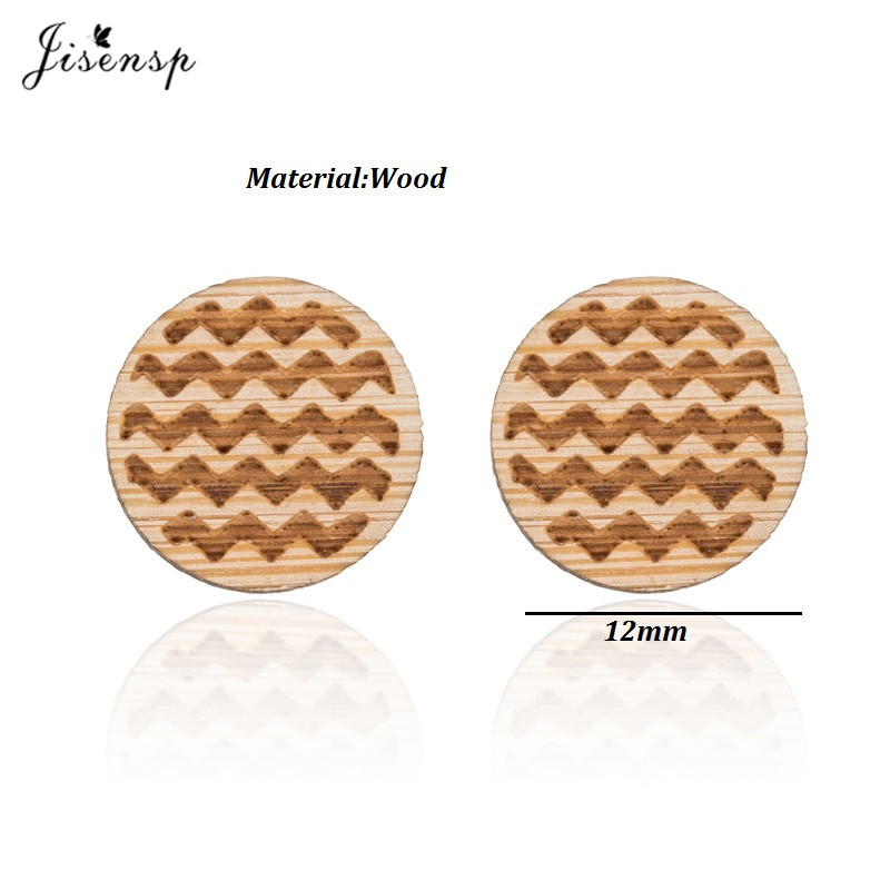 Chevron Wooden Earrings -