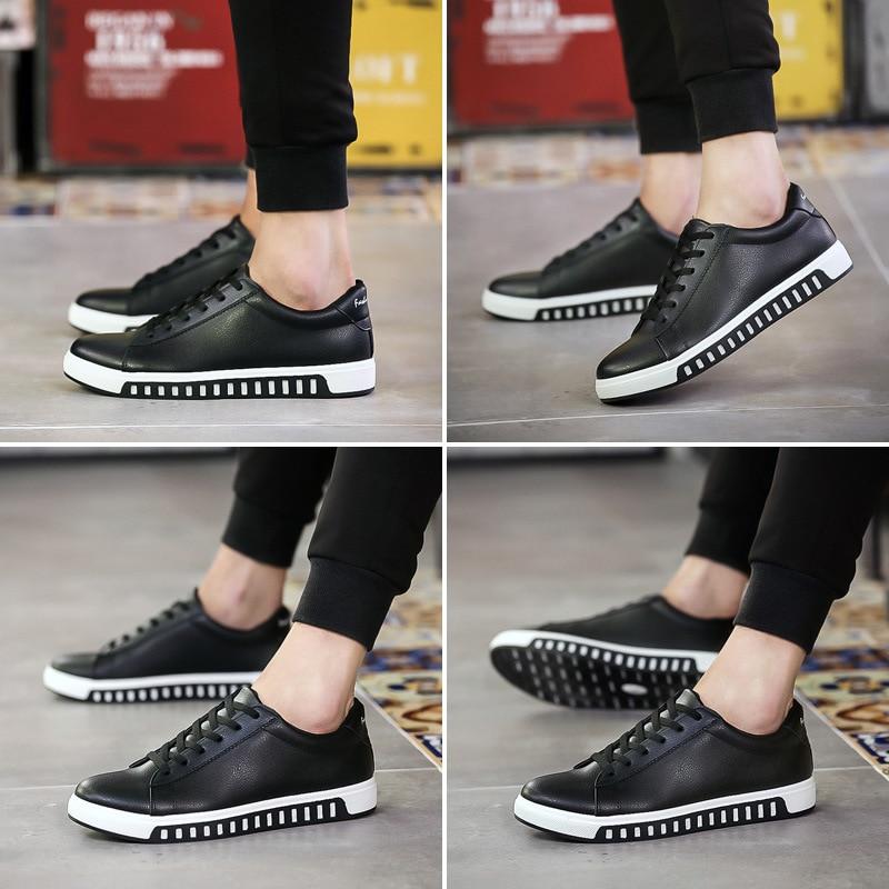 Chaussures Qualité Printemps Cuir bleu Noir rouge Automne Casual Haute Hommes De Marque En blanc Sneakers 8Eq5xvA