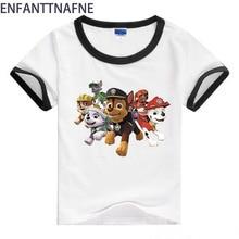 아기 T- 셔츠 어린이 개와 T- 셔츠 아기 만화 스타일 T- 셔츠 소년 소녀 여름 짧은 소매 복장 소년 T- 셔츠 키즈