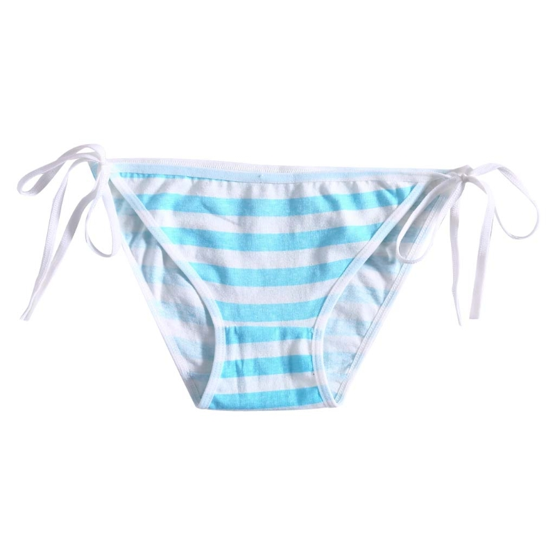 Women Lady Cute Sexy Stripe Bandage Panties Cotton Harajuku Hatsune Miku Underwear Cosplay 2018 Summer Panties