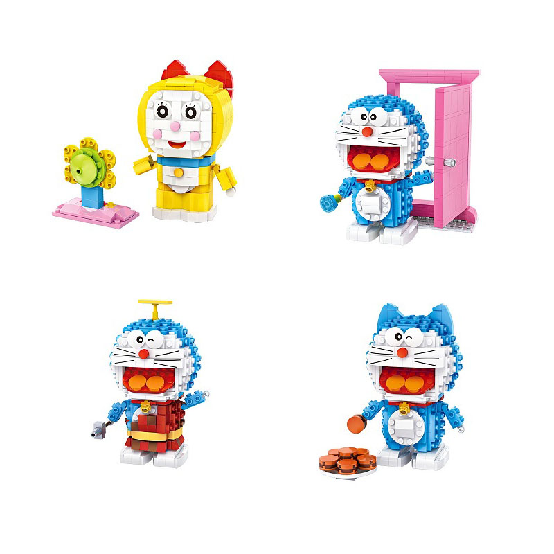 4pcs/lot LOZ Christmas Gifts Doraemon & Dorami 3D Nano Mini Building Blocks DIY Classic Assembled Educational Toys For Children 4pcs lot loz christmas gifts doraemon