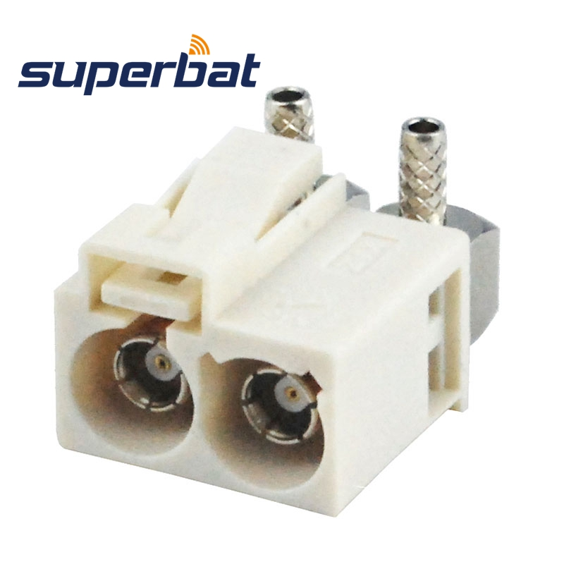 Superbat Fakra Double Code B Female Jack Right Angle RF Coaxial Connector Crimp Cable RG316 RG174 LMR100 For Radio With Phantom
