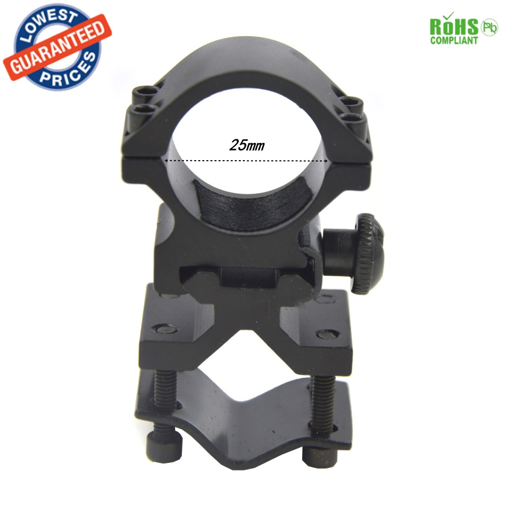 AloneFire K185 25mm Ring Scope Mounts 20mm Rail For Flashlight Laser Torch Barrel Bracket 1PC