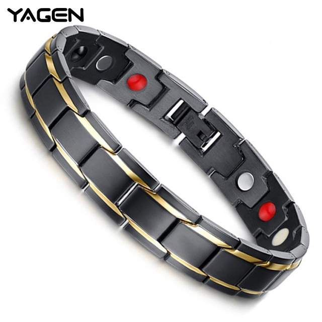 YAGEN nueva pulsera de energía terapéutica magnética pulsera de salud pérdida de peso cuerda para adelgazar terapia acupuntos masaje