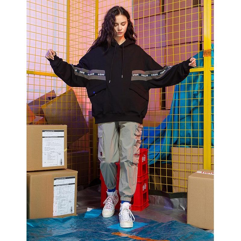 Multi Las Casual Black Moda grey Chándal Nueva Mujeres bolsillo De Bf Hip Salvaje Llegada Suelto Hop Pantalones 2019 Streetwear Para wF1X6vqqx