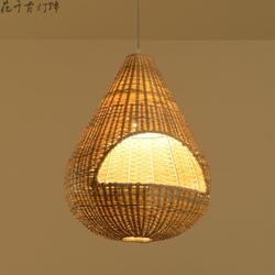 Azja południowo wschodnia ogród bambusowe lampy wiszące sklepy restauracyjne hotel bar klatka kreatywne rattanowe lampy bambusowe YA7267 w Wiszące lampki od Lampy i oświetlenie na