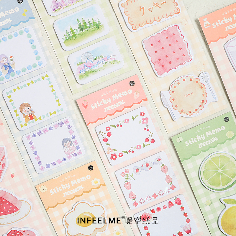 Food 60Pcs \ DIY Creative Cute Retro Personality Fun Can Tear Post-it Notes Message Student Stationery Office Supplies