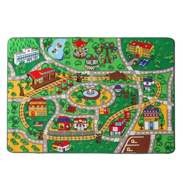 Kinder Teppich Straße Karte mit Straße Spaß Spielen Teppich Kinder ...