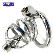 FRRK Male Steel Chastity Cage Penis Cock Ring for Adult Games,Cock Cages Devices Sex Toys Man