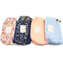 1Pcs Student Pencil Bag Box Pencil Case Pouch Double Zipper Cosmetic Bags Canvas School Supplies Stationery Storage Organizer цена
