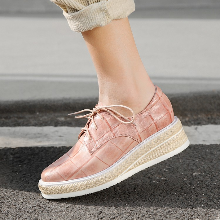 MLJUESE 2018 fashion sneakers Sheepskin patchwork autumn spring Dad sneakers Vulcanize Shoes wedges sneakers size 34