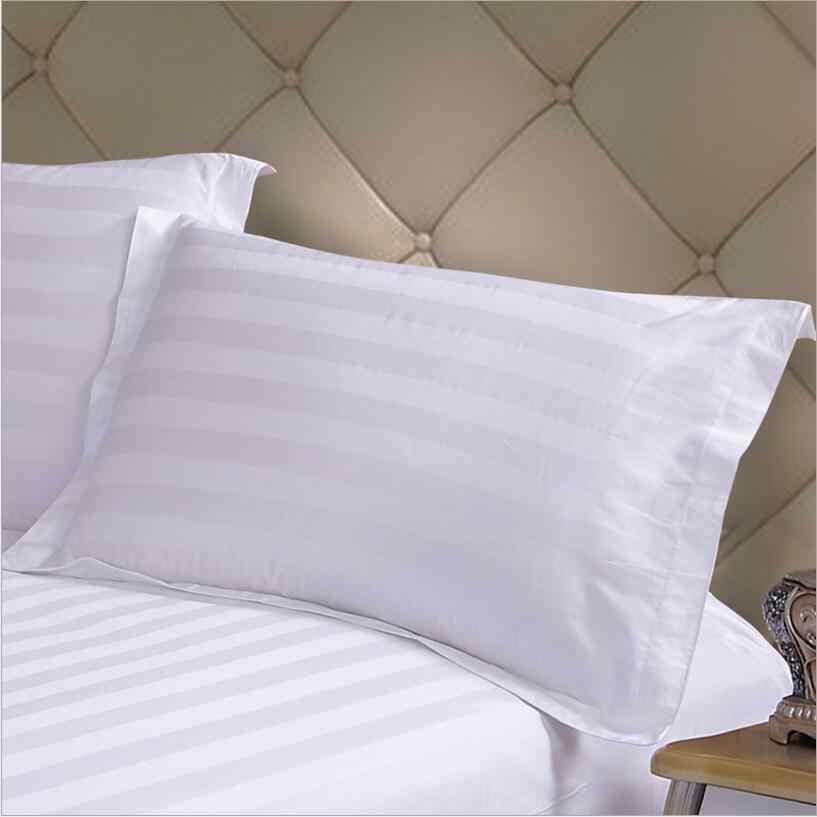 cotton 3cm stripes hotel pillow case