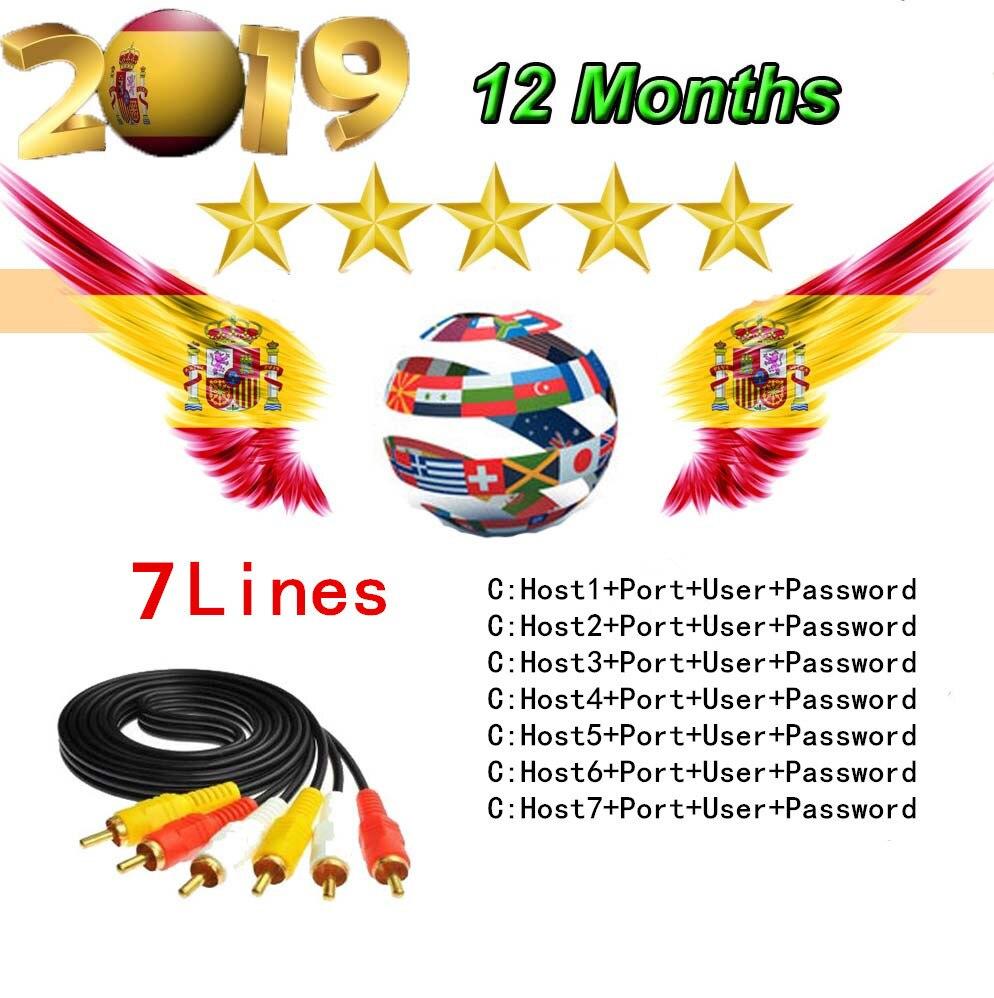 Best Cccam 7 lines For 1 Year European France Portugal Spain CCccam HD Server For Freesat V7S HD V8  DVB S2 Receiver-in Satellite TV Receiver from Consumer Electronics
