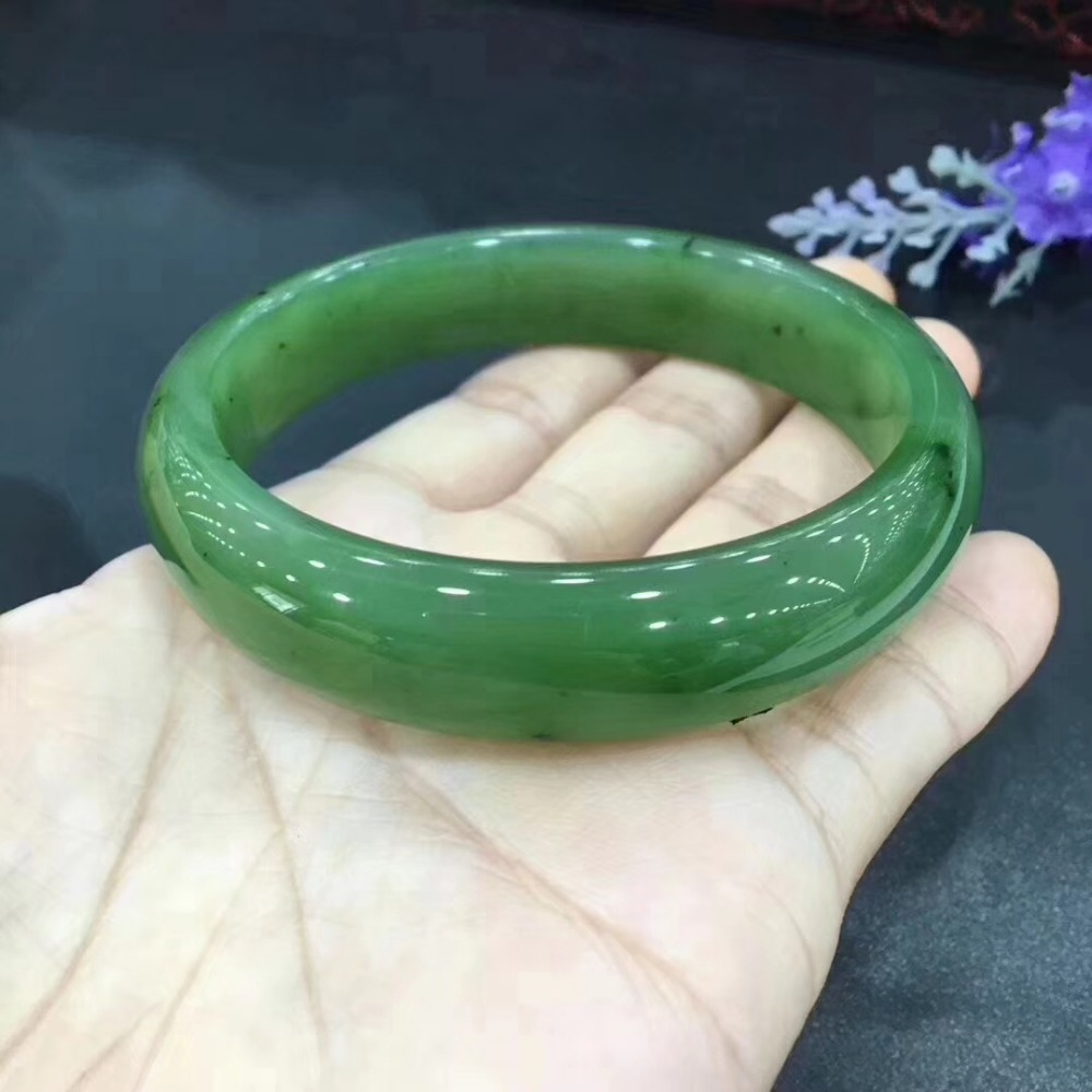 Responsible Hetian Yubi Yu Bracelet Warm And Delicate Structure Compact/ Top Watermelons Bracelets & Bangles