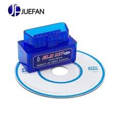 цена на High quality Mini elm327 v2.1 OBD2 Bluetooth Auto Scanner OBDII 2 Car ELM 327 Tester Diagnostic Tool for Android Windows Symbian