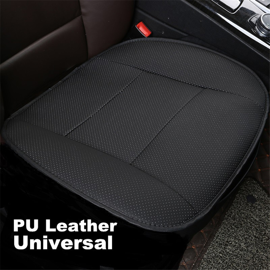Image 2 - 1PC PU Leather Black Front Car Cover Seat Protector Cushion Black Automotive interior accessories-in Automobiles Seat Covers from Automobiles & Motorcycles