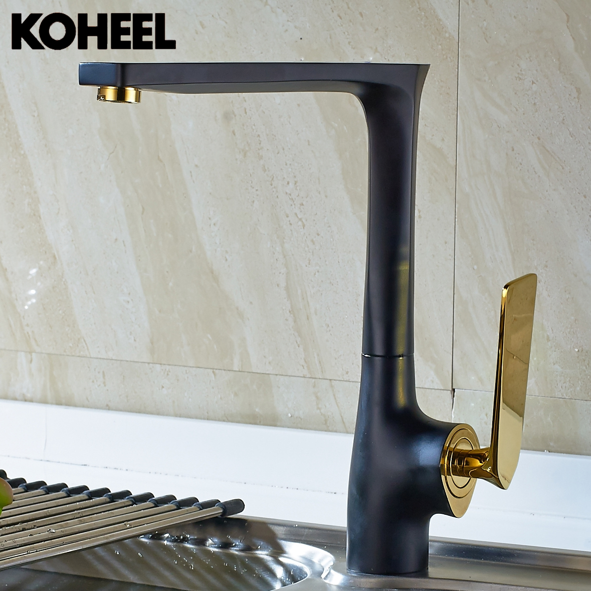Kitchen Faucet Black Brass Hot And Cold Water Tap Sink Mixer Tap Wash Basin Faucet 5 Colors Basin Mixer High Quality K high quality new kitchen faucet antique black brass hot and cold water mixer sink mixer tap wash basin faucet oil rubbed bronze