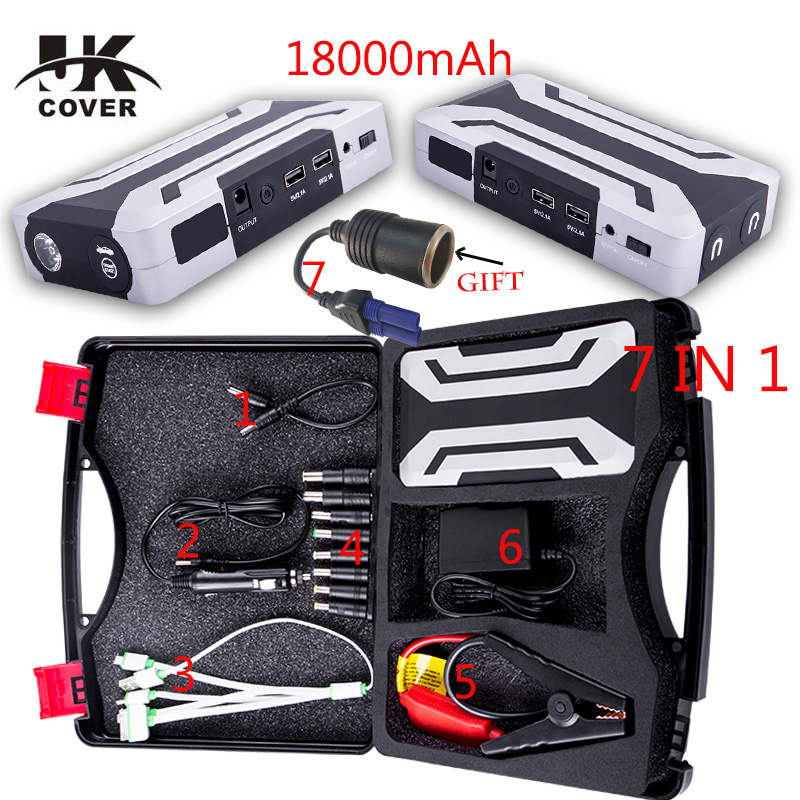 Multi-function 18000mAh Car Jump Starter 1200A Portable Starting Device Booster Power Bank 12V Car Charger Car Battery Buster(China)