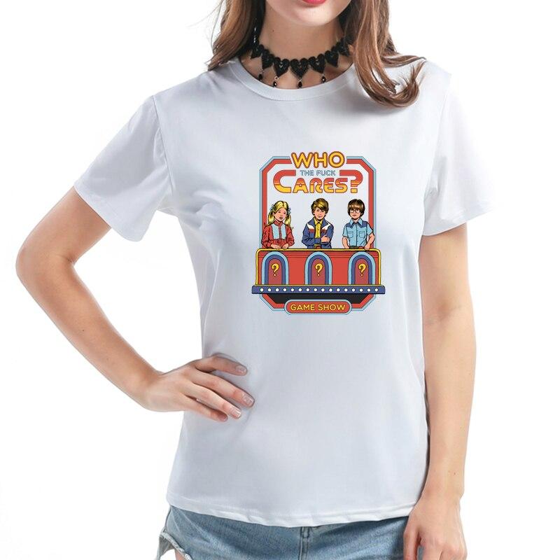 2018 di Estate di Umore di Stile Ha Stampato Donne Graphic T shirt Più Il  Formato Maniche Corte Giochi del capretto Harajuku 80 s 90 s T Delle Donne  della ... 3ab5f549cd6e