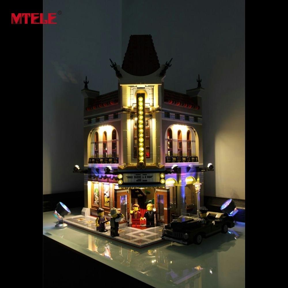 MTELE Merek LED Light Up Kit Untuk Pencipta Kota Jalan Palace Cinema - Mainan bangunan dan konstruksi - Foto 4