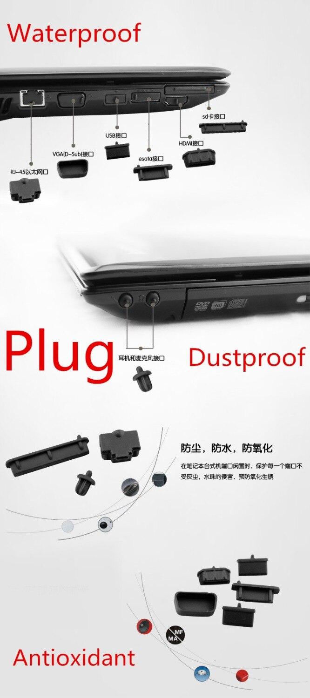Wodoodporny, odporny na kurz Laptop czarny silikonowy port wtykowy etui do Dell Precision M6800 M6700 M6600 M4800|Torby i etui na laptopy|   - AliExpress