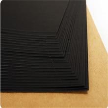 Black A3/A4/8K/4K Hard Card Paper Handmade Art Design Cardboard 180gsm/120gsm/230gsm/250gsm Copy Paper Craft Paper