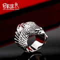 Beier anillo de acero inoxidable 316l anillo biker animales cuervo joyería de moda hombre de br8-329