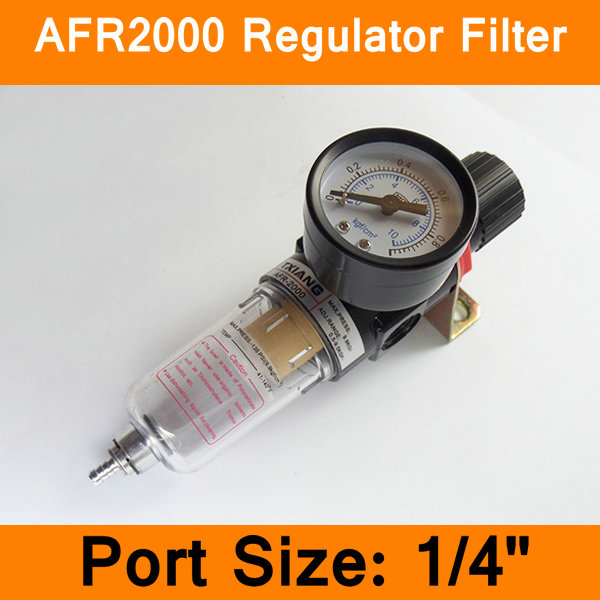 AFR2000 Air Filter Port 1/4 Pneumatic Parts Air Filter Accessory Source Treatment Unit Oil Water Separation with Pressure Gauge replacement lcd display for lenovo a8 50 tablet a5500