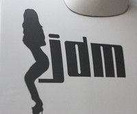 High quality For   jdm sex girl  Car   sticker and decals hellaflush fatlace cool modified accessories