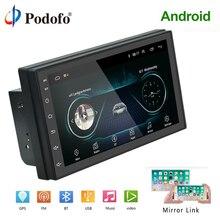 """Podofo Android 2 Din Auto radio Multimedia Video Player di Navigazione GPS 2 din 7 """"HD auto Universale Audio Stereo wiFI Bluetooth USB"""