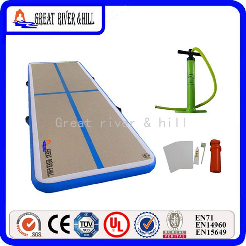 2017 new popular Inflatable air track mats 3m x1m x10cm with free hand pump