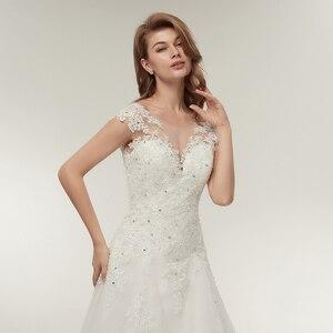 Image 4 - Fansmile Tulle Mariage Vestidos de Novia Embroidery Lace Mermaid Wedding Dress 2020 Bridal Gowns Plus Size Customized FSM 138M