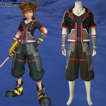 Game Kingdom Hearts 3 Cosplay Sora Costume Necklace Shirt Anime Carnival Adult Costumes Halloween Custom Made Sweater Jackets(China)