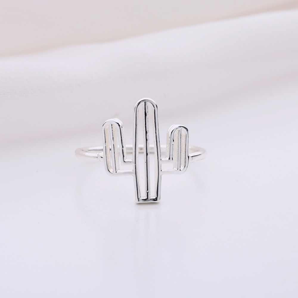 Anillo de árbol de Cactus a la moda barato serie de insectos abeja Cactus arena gema Simple Bohemia anillos para mujeres anillos de fiesta de marca de plata joyería