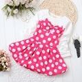 BibiCola Niña Vestido Del Patrón de Punto Princesa de Las Muchachas Del Estilo Europeo Vestido de Diseñador de la Marca de Ropa de Los Cabritos Del Bebé