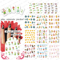 BeautyNailArt     50PCS/lot BLE399-409  Easter Rabbit Chicken Egg Nail Art Tips Stickers Nail Design Manicure Decals Nail Water