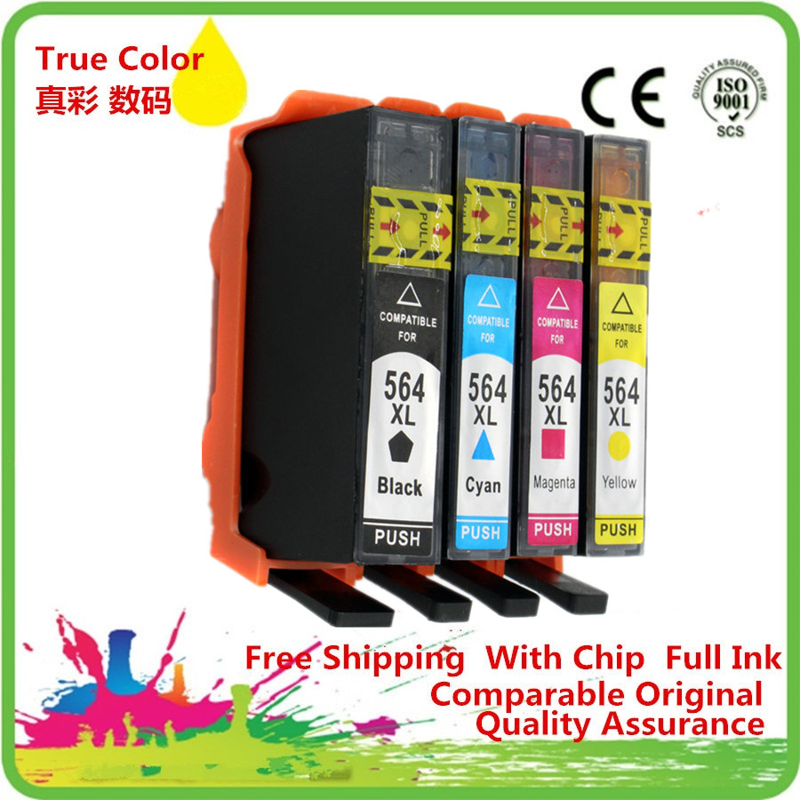 Replacement 4 Color 564 Xl 564xl Ink Cartridges Replace For Hp
