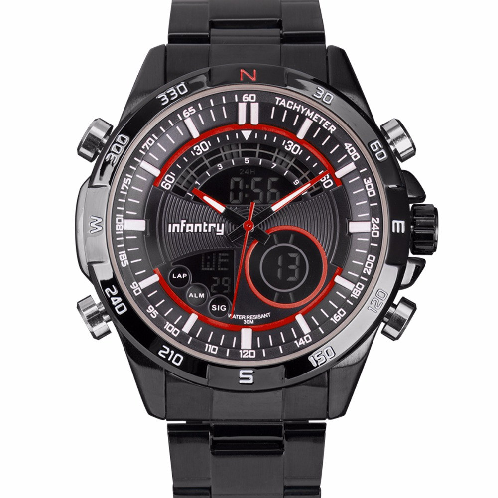 INFANTRY Hombres Relojes Deportivos Pantalla LED Relojes de pulsera - Relojes para hombres - foto 4