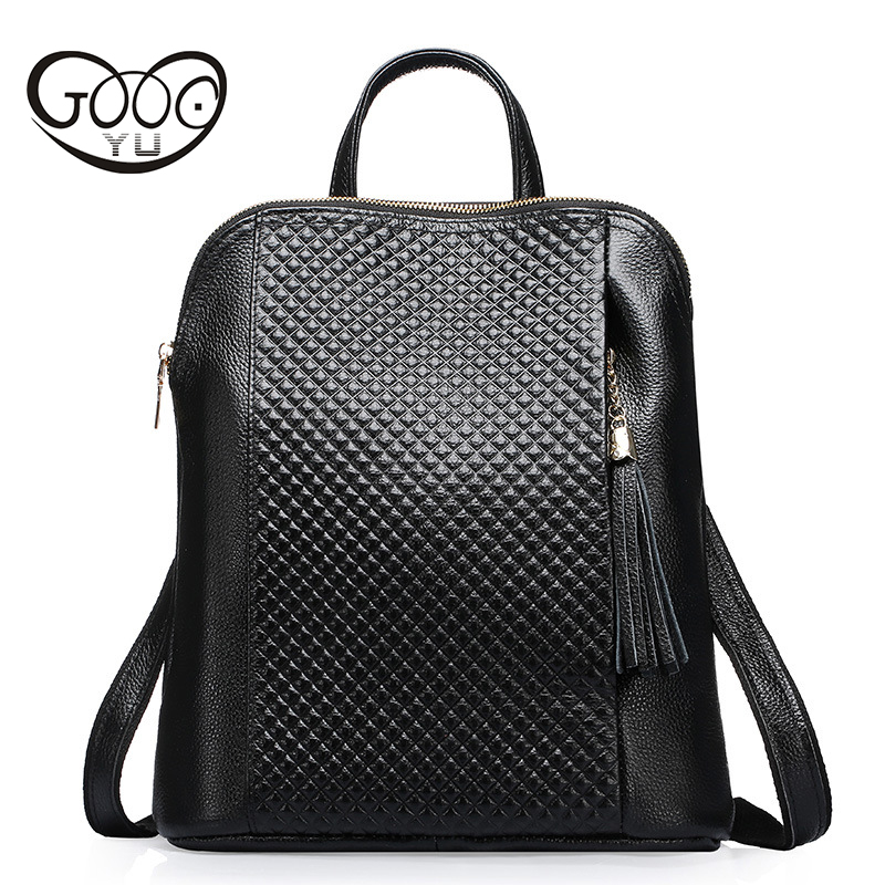 Women Bag Genuine Leather Women's Backpack Luxury Brand Real Cow Leather Backpacks Cowhide Girl'S Tote Shoulder Bags beep brand superior cowhide fashioncasual luxury genuine leather bag tote women leather shoulder bag women s bag